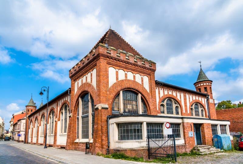 Старый рынок города в Bydgoszcz, Польше стоковое фото