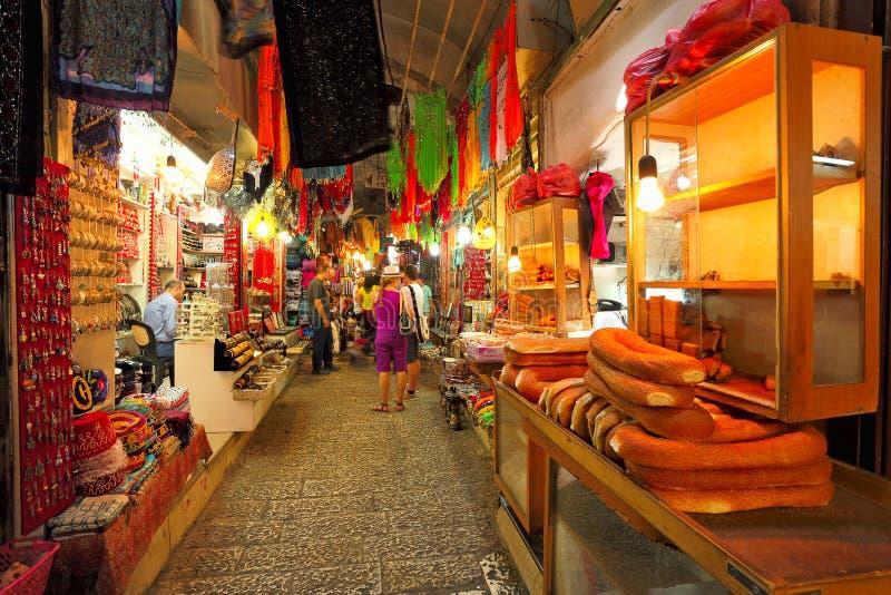 Старый рынок Иерусалима. стоковые изображения rf