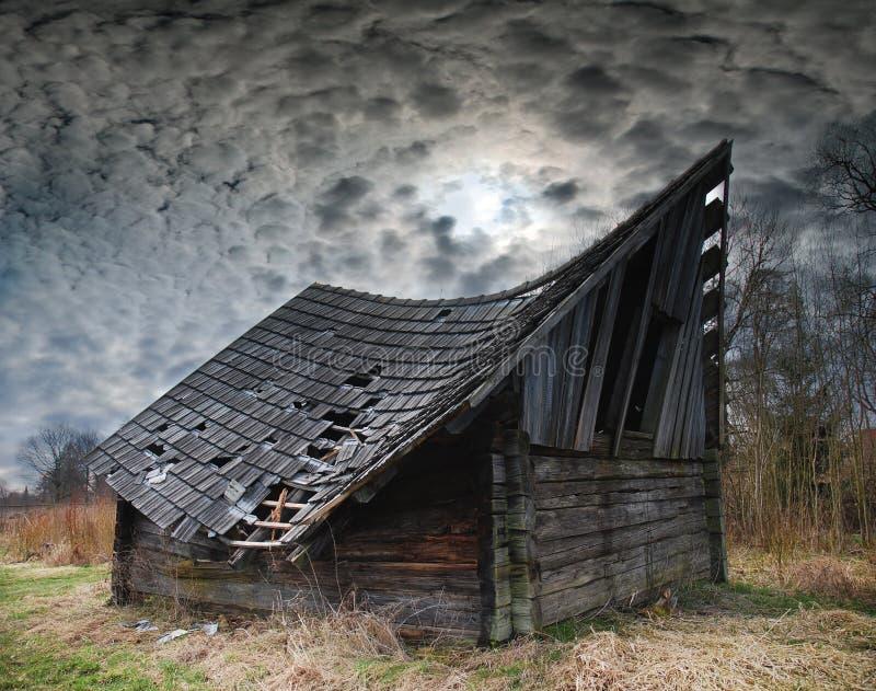Старый сеновал стоковое фото