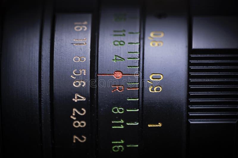Старый сетноой-аналогов объектив стоковые изображения rf