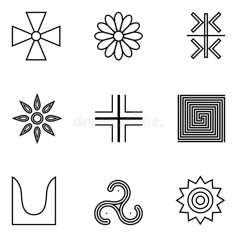 Старый символ бога Солнце иллюстрация штока