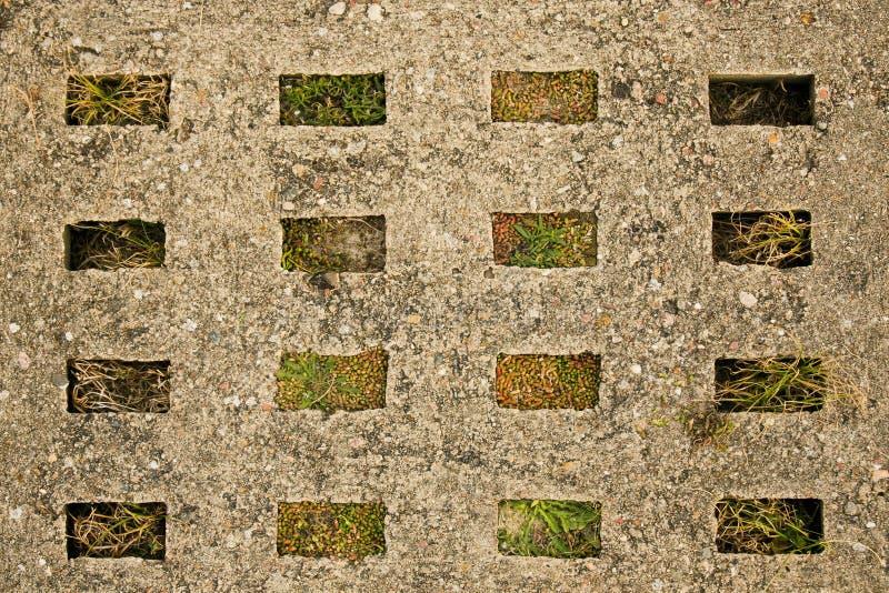 Старый сляб конкретной дороги стоковая фотография