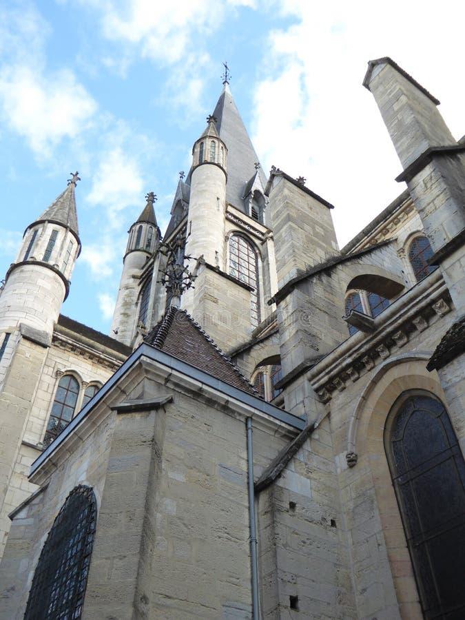 Старый собор в Дижоне, Франции стоковое фото rf