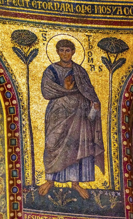 Старый собор Рим Италия St. John Lateran мозаики St. Thomas стоковая фотография