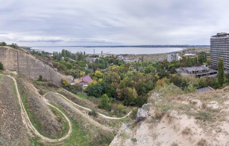 Старый спуск к лиману в Одессе, Украине стоковое фото rf