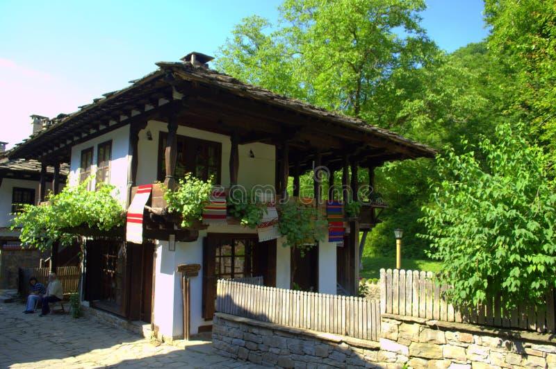 Старый сплетя дом мастерской, Etar Болгария стоковая фотография rf