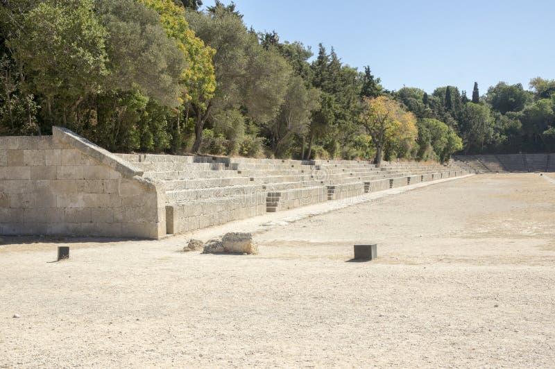 Старый стадион, акрополь Родоса стоковое фото