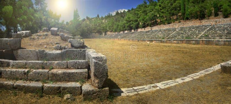 Старый стадион Дэлфи в Греции стоковые фото