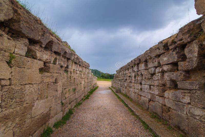 Старый стадион Олимпии стоковое фото rf