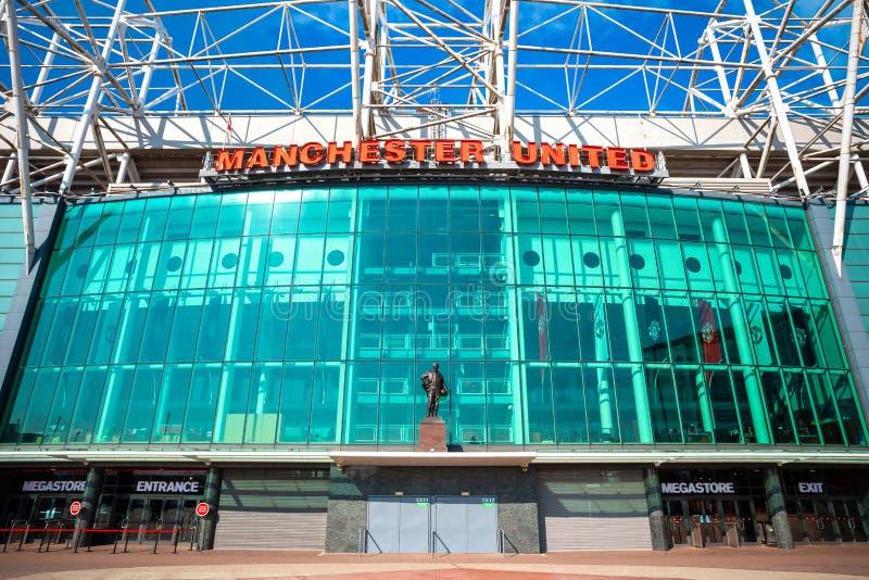 Старый стадион Trafford в Манчестере, Великобритании стоковая фотография