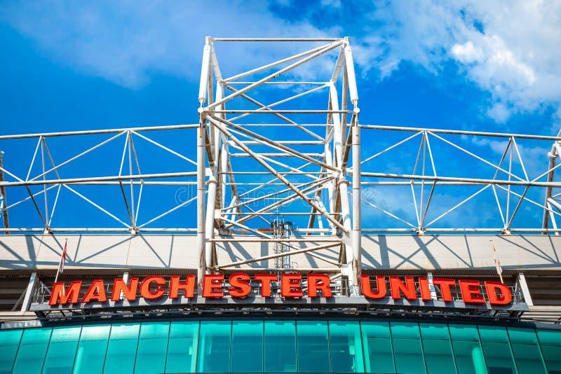 Старый стадион Trafford в Манчестере, Великобритании стоковое изображение