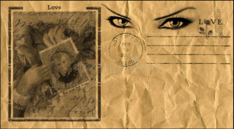 Старый стиль открытки стоковые фотографии rf