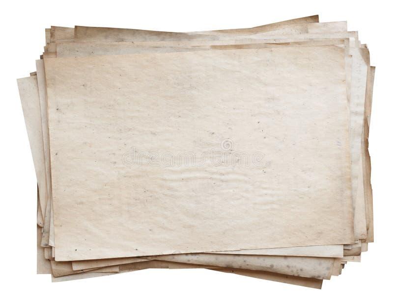 старый стог бумаг стоковое изображение