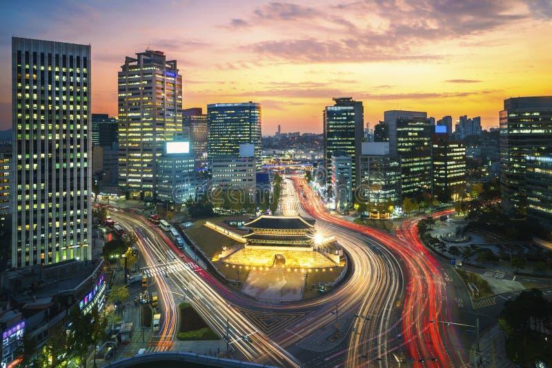Старый строб города в городе Сеула стоковые изображения