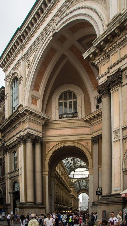 Старый строя фасад со штендером стоковое фото rf