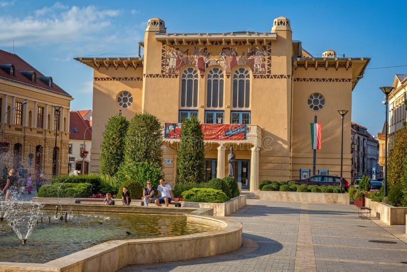 Старый театр в маленьком городе Sopron в северной Венгрии, 23 08 Венгрия 2017 стоковое изображение rf