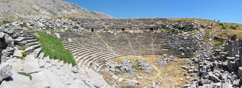 Старый театр в Sagalassos стоковое изображение rf