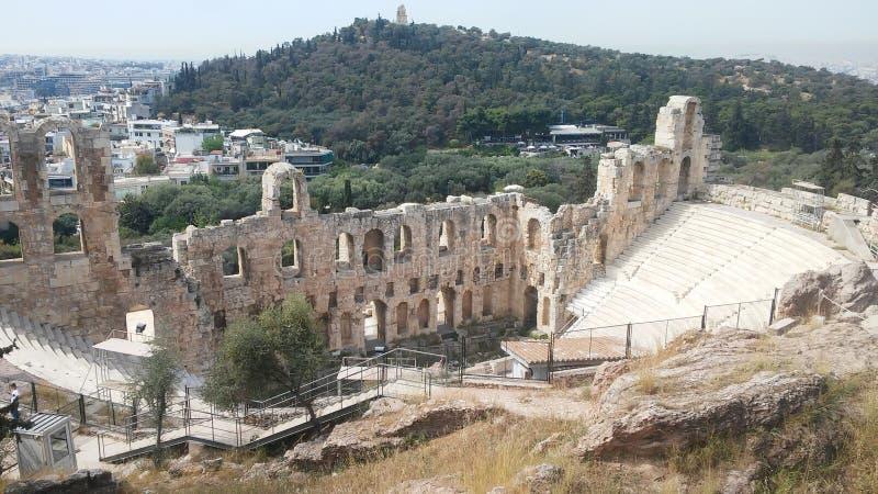 Старый театр Греция стоковые изображения rf