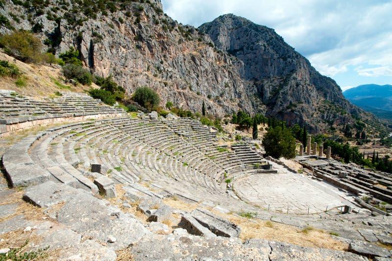 Старый театр, Дэлфи, Греция стоковое фото rf