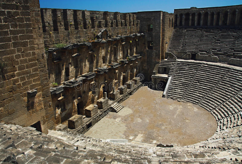 Старый театр Aspendos стоковые фото