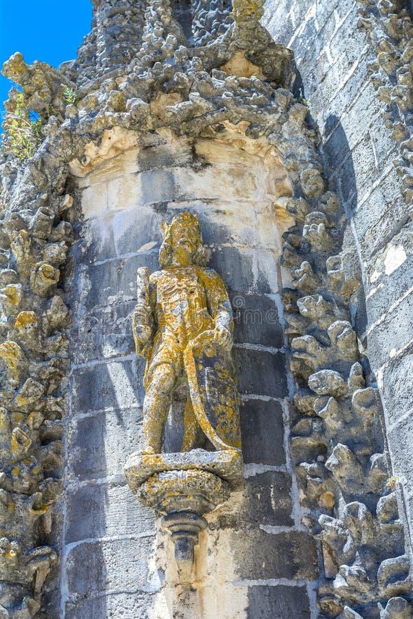 Старый 600-ти летний замок в Tomar, Португалии стоковая фотография rf