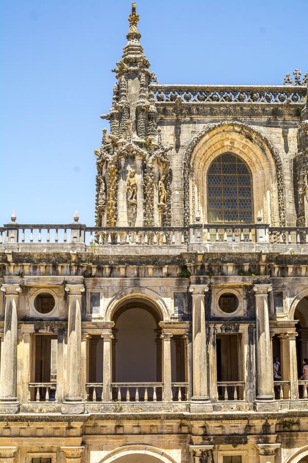 Старый 600-ти летний замок в Tomar, Португалии стоковые фотографии rf