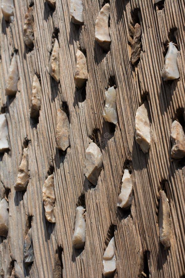 Старый традиционный молотя скелетон на дисплее стоковое изображение rf