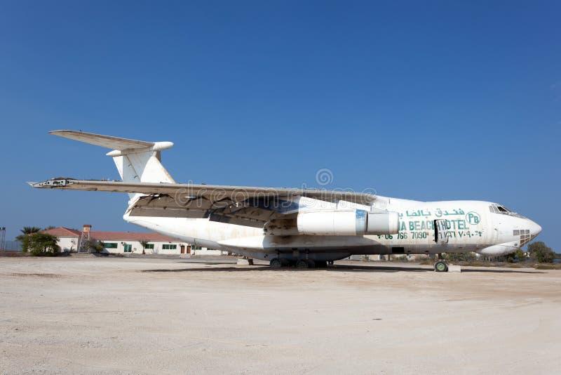 Старый транспортный самолет Ilyushin IL 76 русского стоковые фото