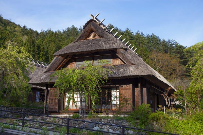 Старый традиционный японский дом стоковое изображение rf