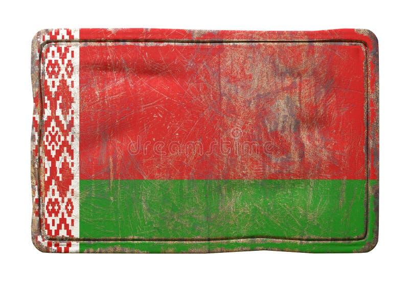 Старый флаг Беларуси стоковое изображение rf