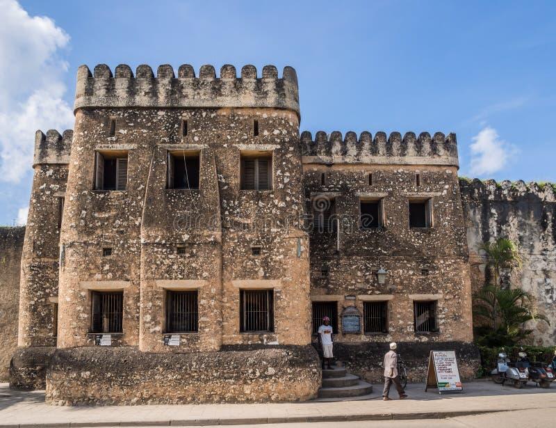 Старый форт (Ngome Kongwe) в каменном городке, Занзибаре стоковое изображение rf