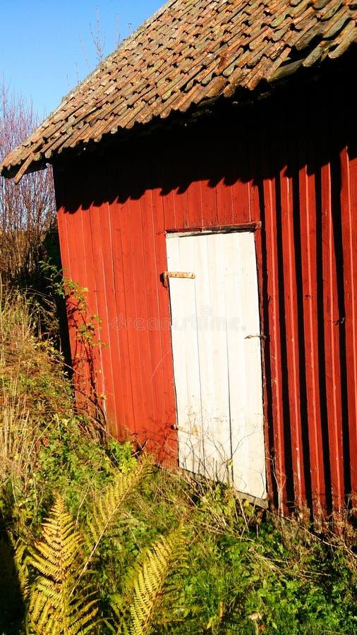 Старый флигель в Норвегии стоковые фотографии rf