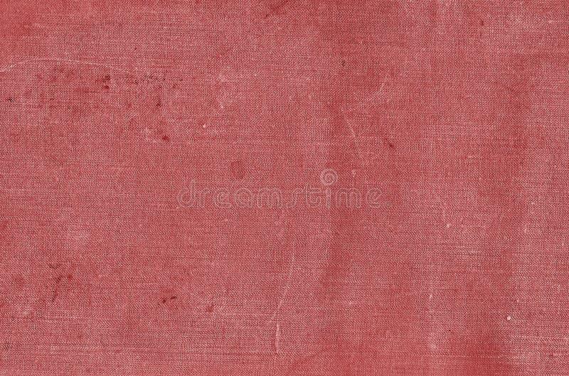 Старый цветной полотно с грязными пятнами в красном цвете стоковое изображение rf
