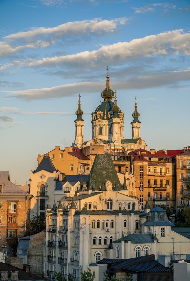 Старый центр города Киева стоковая фотография rf