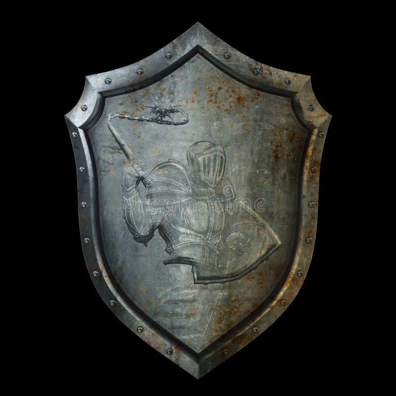 Старый экран с сбросом рыцаря в панцыре бесплатная иллюстрация