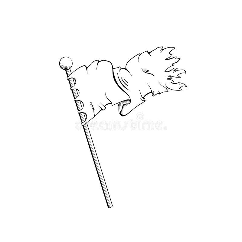 Старый эскиз излишка бюджетных средств флага бесплатная иллюстрация