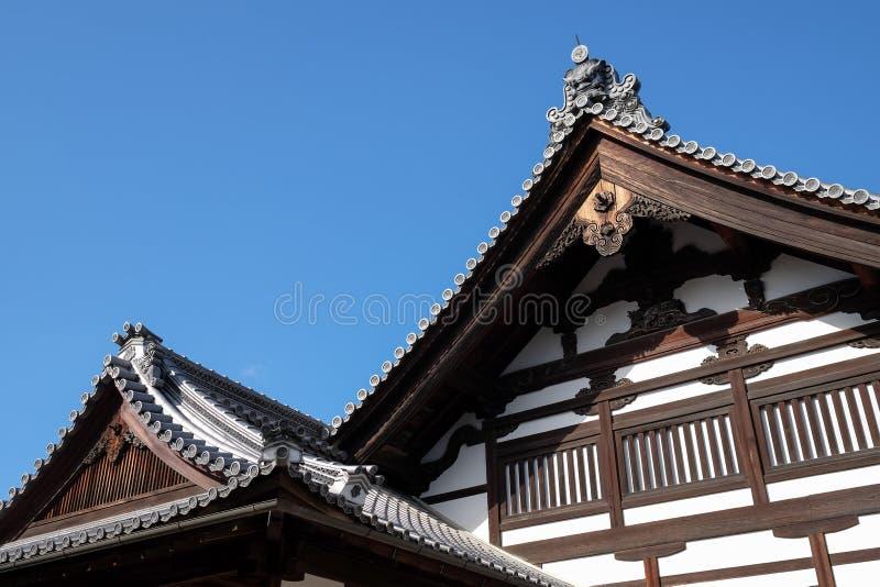 Старый японский висок стоковые фотографии rf