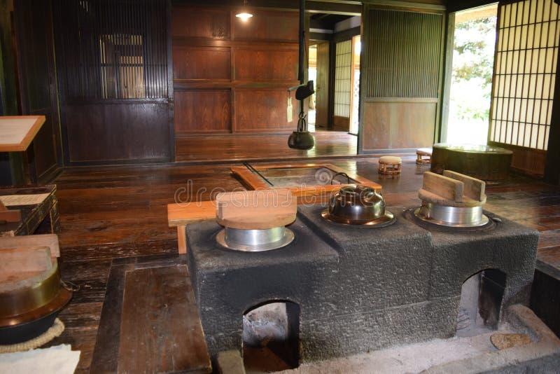 Старый японский дом стоковое фото rf