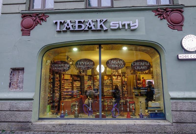 Старый bookstore в Санкт-Петербурге, России стоковое изображение rf