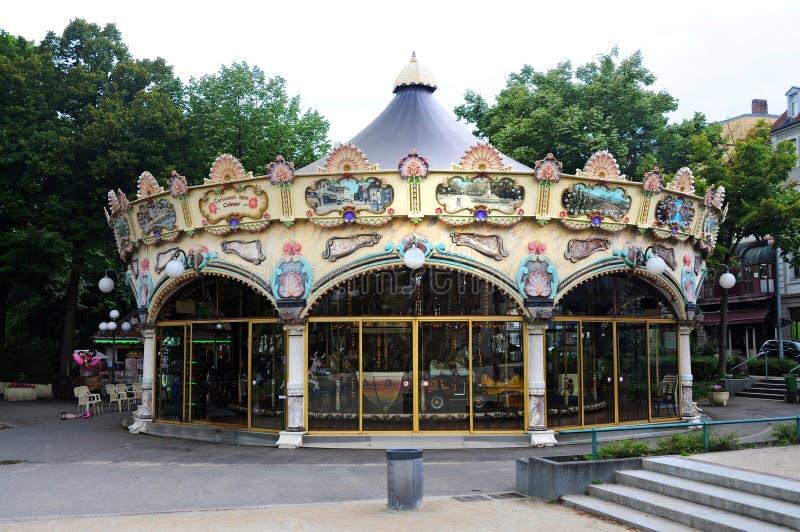 Старый carousel стоковое изображение rf