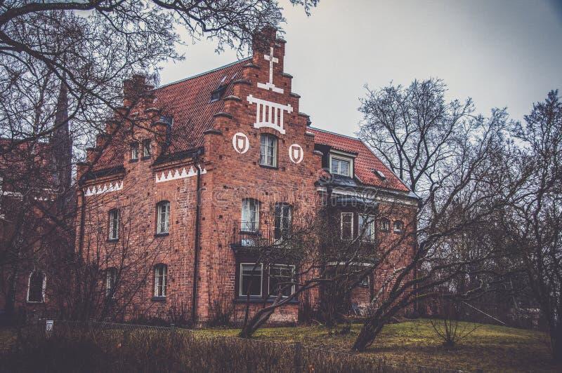Старый manse в Уппсале, Швеции стоковое изображение rf