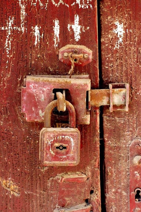 старый padlock стоковое изображение