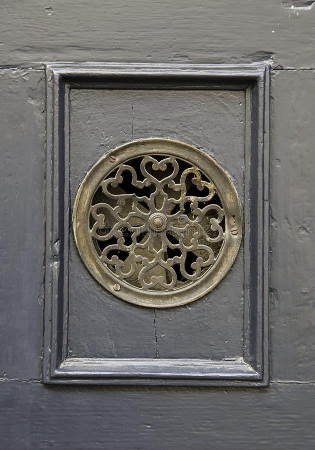 Старый peephole двери стоковая фотография rf