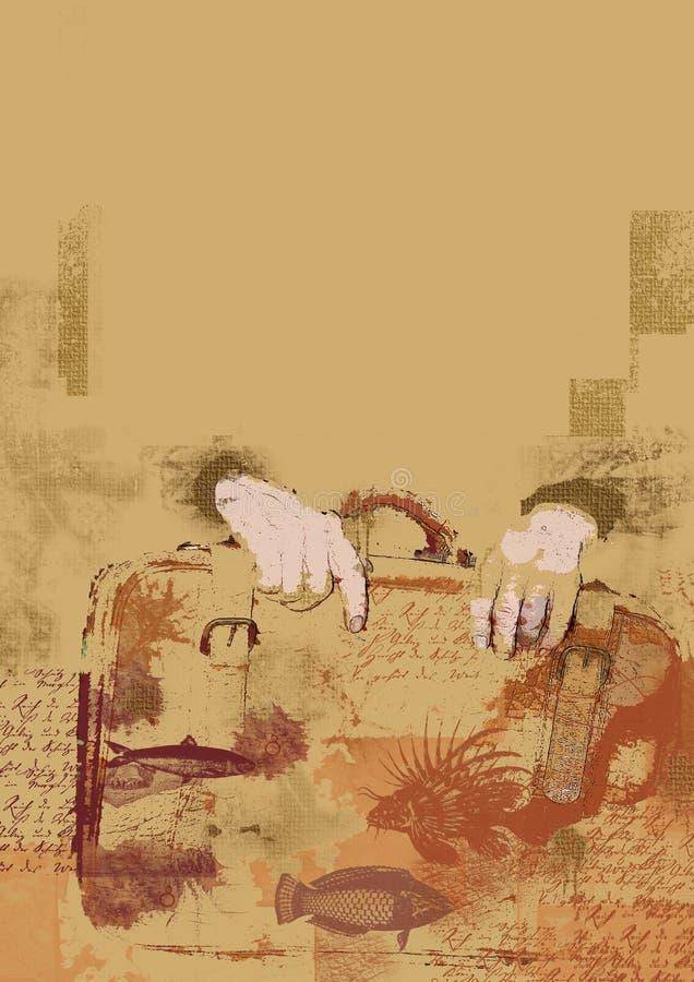 старый portmanteau стоковое изображение