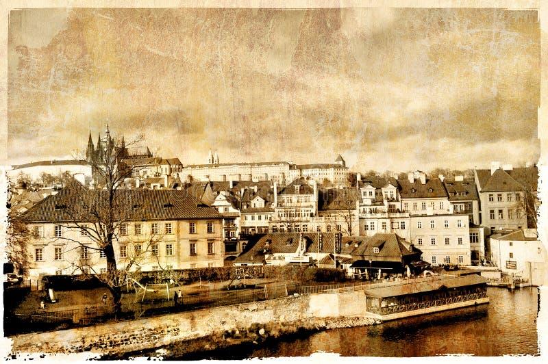старый prague стоковое изображение