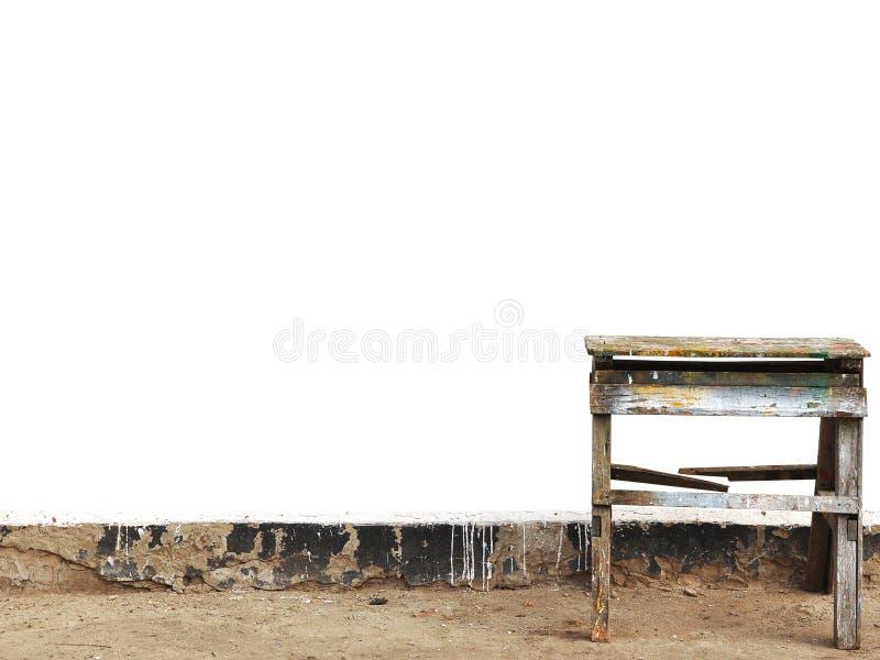 старый stepladder стоковое фото