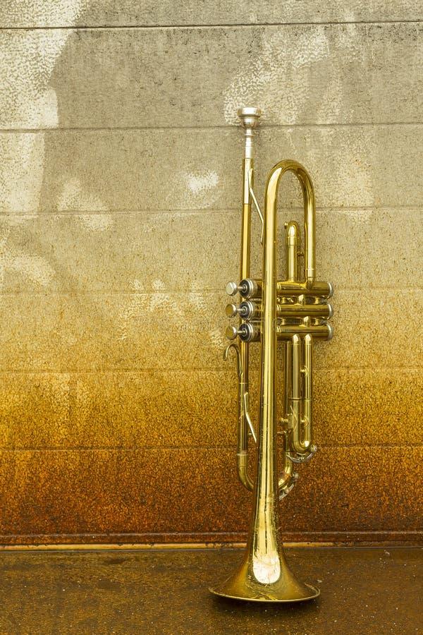 старый trumpet стоковое изображение