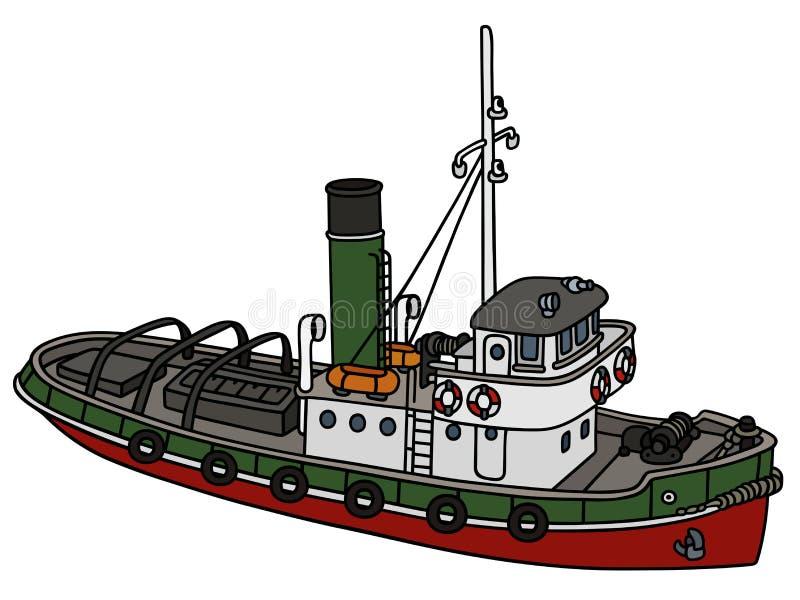 Download старый tugboat иллюстрация вектора. иллюстрации насчитывающей пар - 81803083