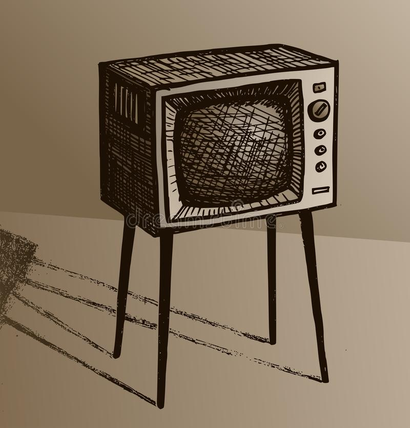старый tv иллюстрация штока