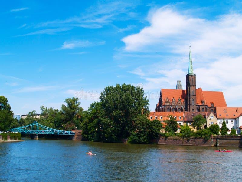 старый wroclaw городка Польши стоковые изображения rf